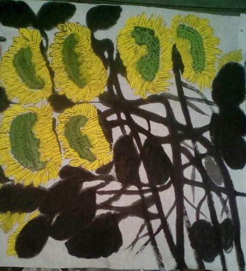 作品标题向日葵